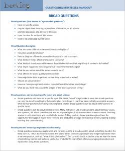 Broad Questions