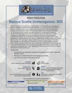 NSI-Nature Scene Investigators Instructor Guide