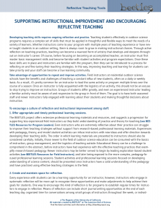 Reflective Teaching Approaches