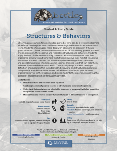 Structures & Behaviors Instructor Guide