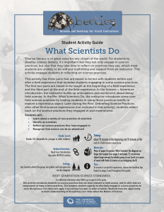What Scientists Do Instructor Guide