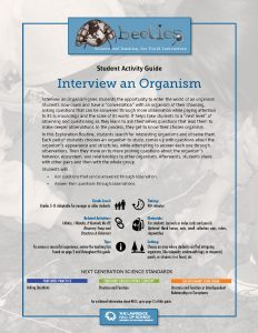 Interview an Organism Instructor Guide