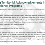 Blog post on Territorial Acknowledgments