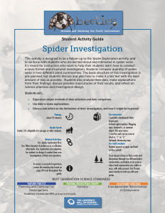Spider Investigation Instructor Guide