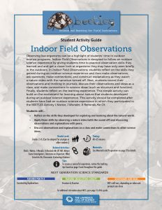 Indoor Field Observations-front cover