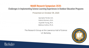 Challenges in Implementing Science Learning Experiences in Outdoor Education Programs