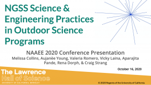 NGSS Science and Engineering Practices in Outdoor Science Programs